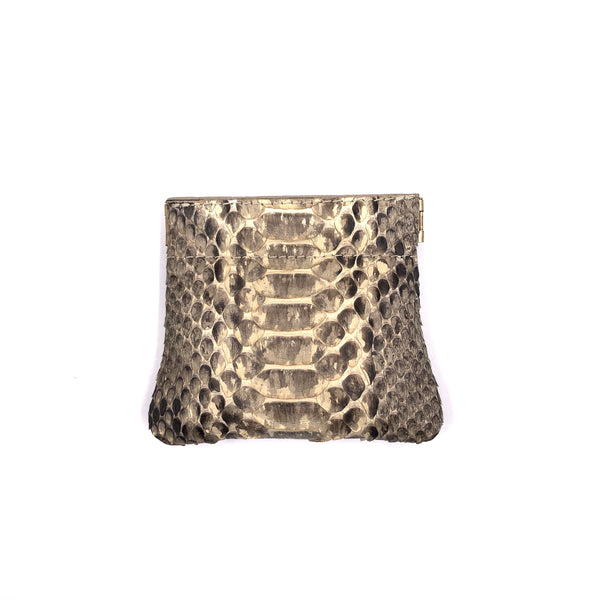 Ivory python snap top coin purse