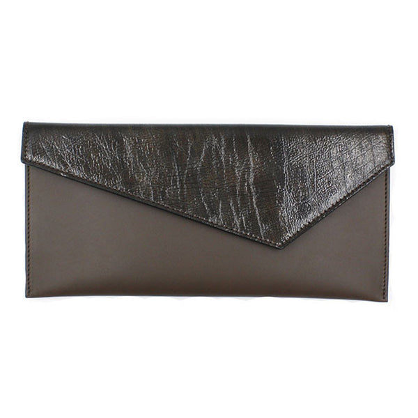 taupe clutch patent flap michael guerisse oleary brussels concept store front