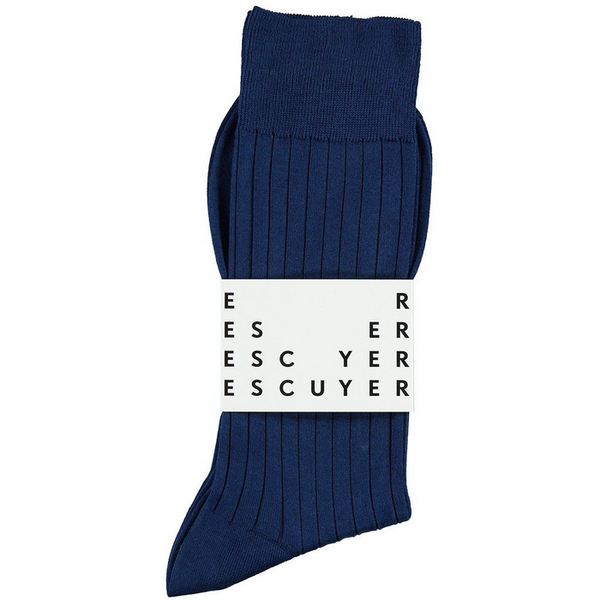 fil d'ecosse lisle britany blue socks escuyer brussels concept store