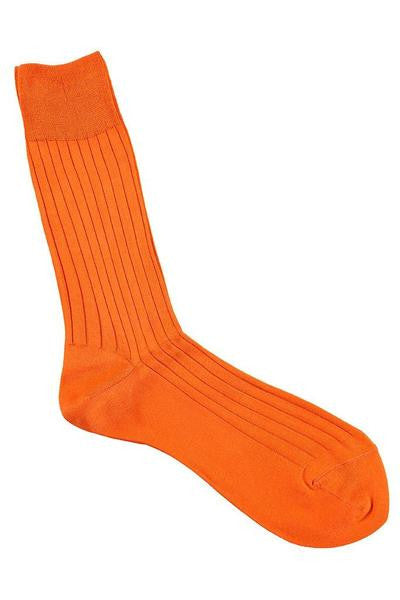 fil d'ecosse lisle orange escuyer socks brussels concept store two