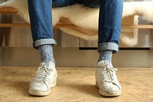melange socks blue escuyer brussels concept store three