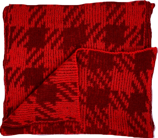 Ute Werner Red / Brown Scarf