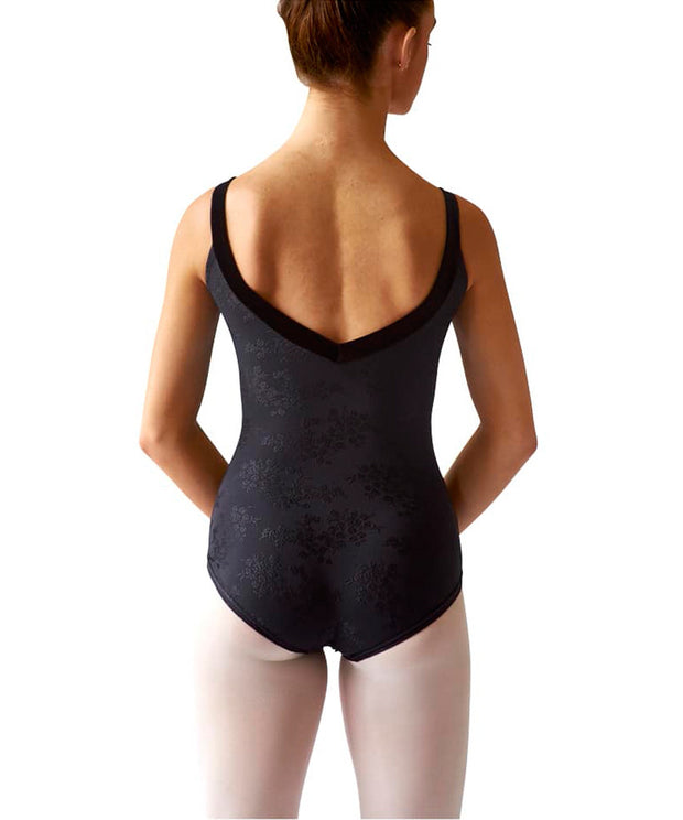 Embossed Velvet Strap Leotard - SteelCore