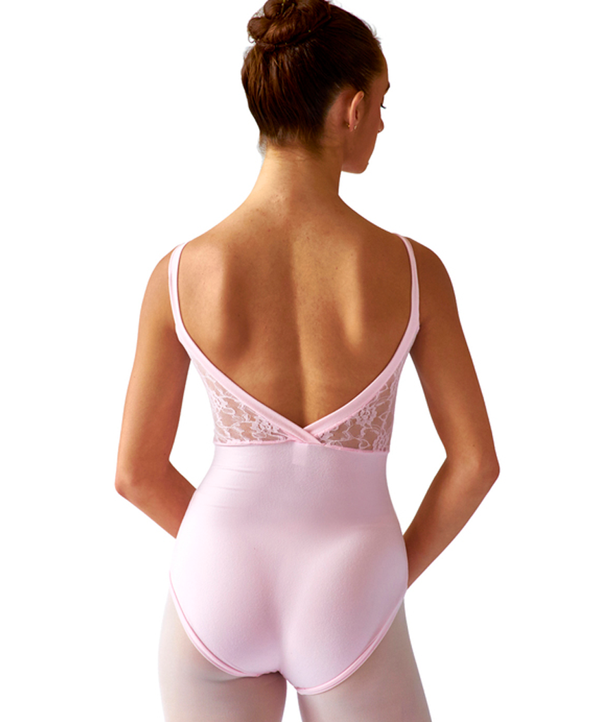 Crossed Back Cami Leotard with Lace