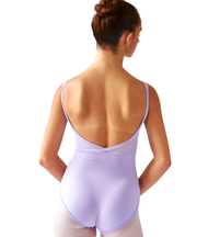 Crossed Back Cami Leotard, Mesh Inset - SteelCore