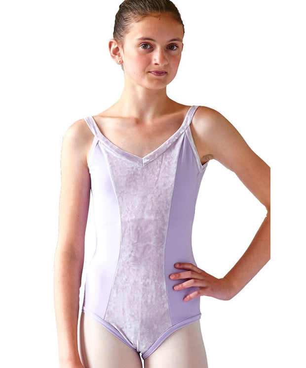 Princess Cami Leotard with Wide Velvet Straps - SteelCore
