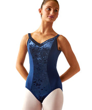 Princess Cami Leotard with Wide Velvet Straps, gorgeous  with a stretchy velvet front panel and straps, the elastic-free design  and wider straps for more support.