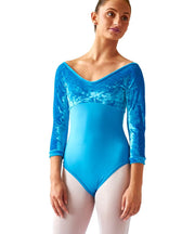 3/4 Sleeve Empire Leotard - SteelCore