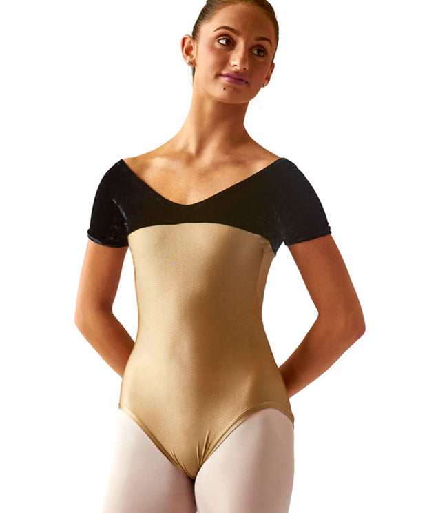 Short-Sleeve Empire Leotard - SteelCore