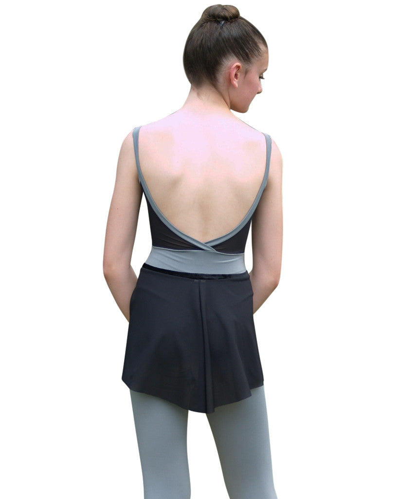 Crossed Back Cami Unitard with Inset