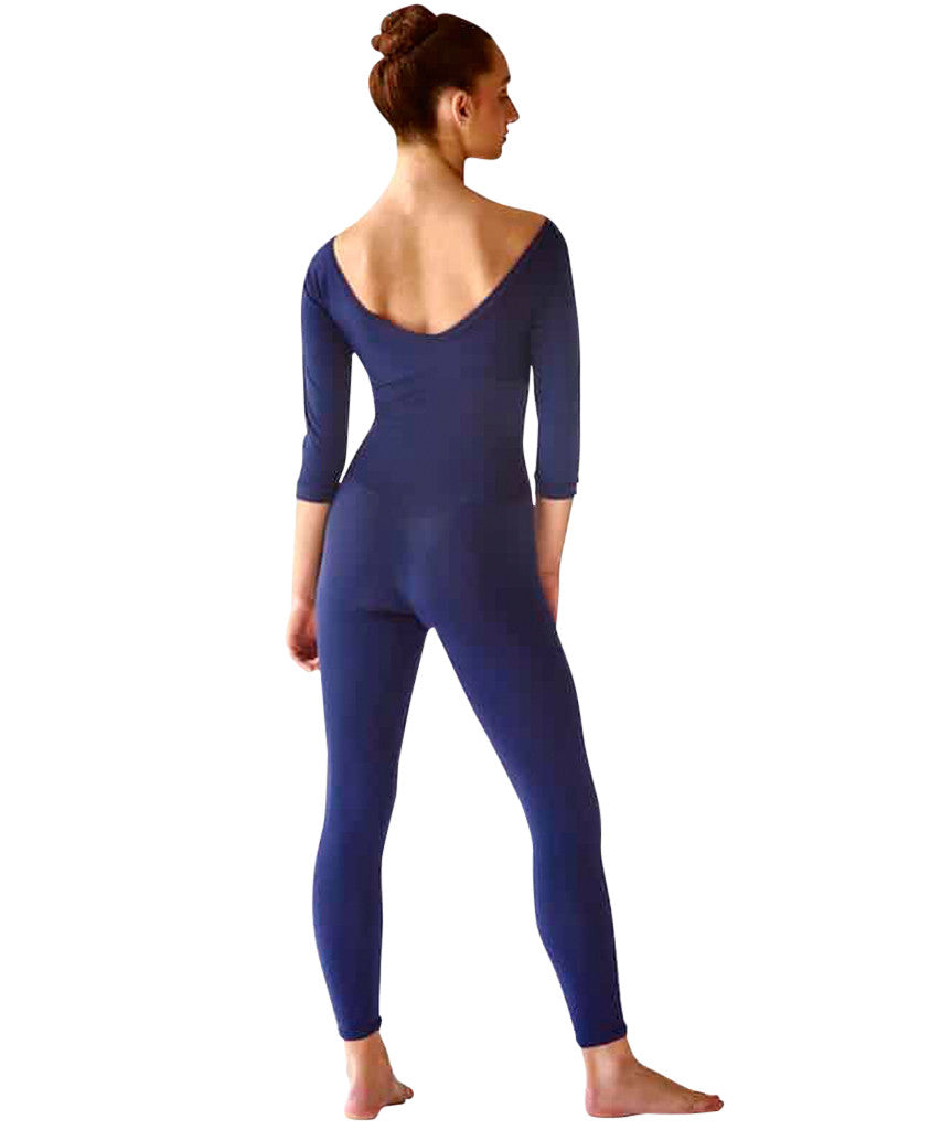 3/4 Sleeve Scoop Neck Unitard