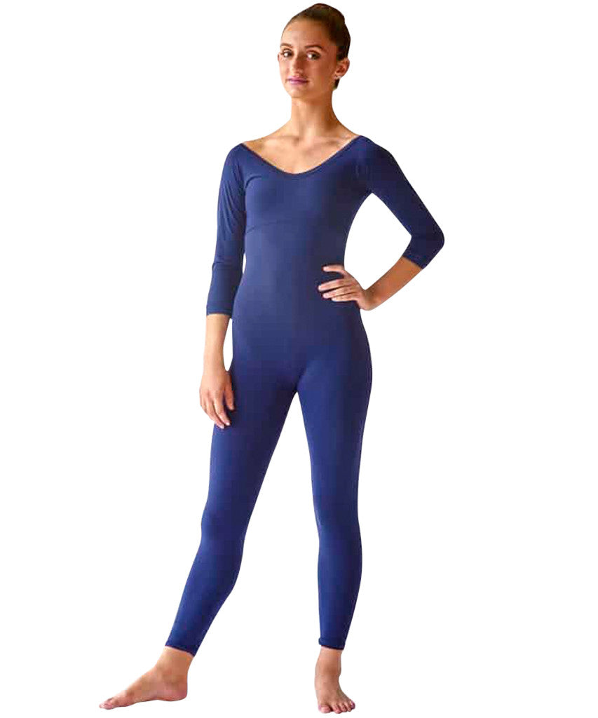 3/4 Sleeve Scoop Neck Unitard - SteelCore