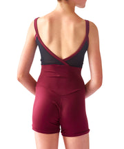 Crossed Back Cami Unishort with Mesh - SteelCore