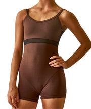 Bodysuit Cami with Mesh - SteelCore
