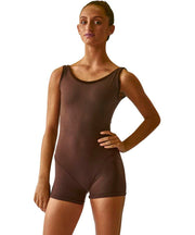 Bodysuit Tank Shorty with Velvet Trim - SteelCore