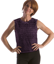 Jewel Neck Shell Top -- slip into Fall in royal tones! - SteelCore