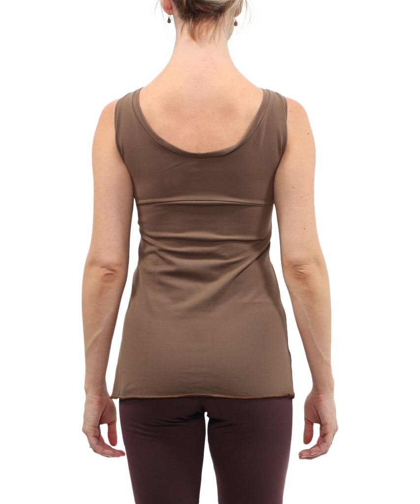 Sleeveless Boatneck Top