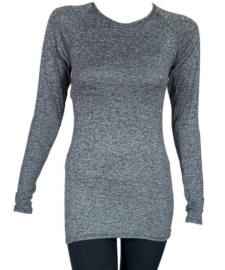 Featherweight Spacedye Longsleeved Raglan Top - SteelCore