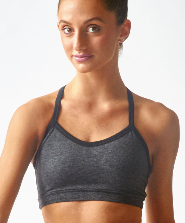 SpaceDye Ultrasoft T-Back Bralette - SteelCore