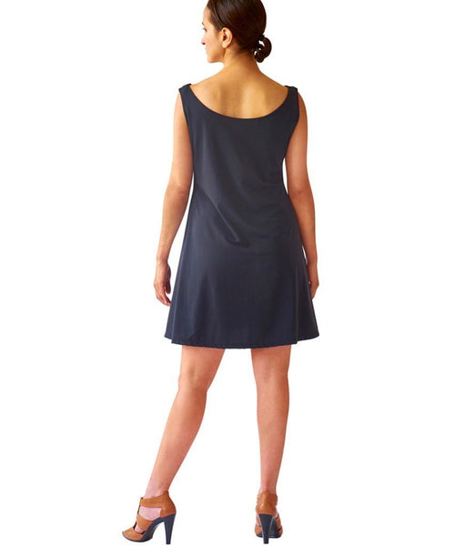 Sleeveless Swing Dress in SkinSilk or Suede