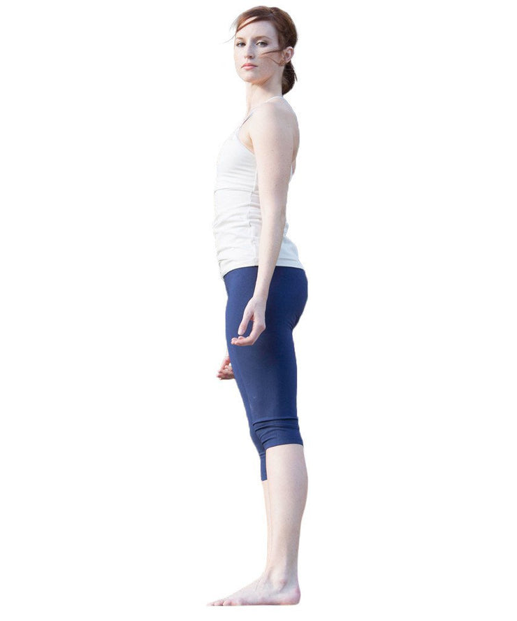 UnSEAMly Organic Cotton Knee Length Capri - SteelCore