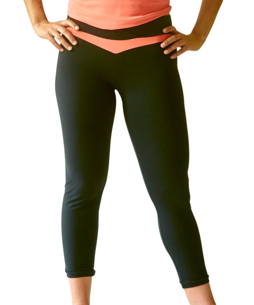 UnSEAMly Inset V-Waist Mid-Calf Capri with Inset - SteelCore