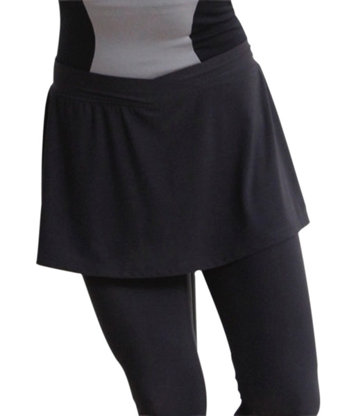SkinSilk Skirted Capri - SteelCore