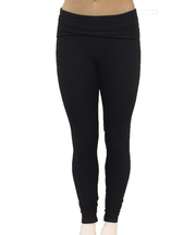 UnSEAMly Foldover Waist Legging in Brushed Supplex - SteelCore