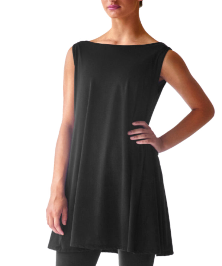 SkinSilk Sleeveless Swing Dress - SteelCore