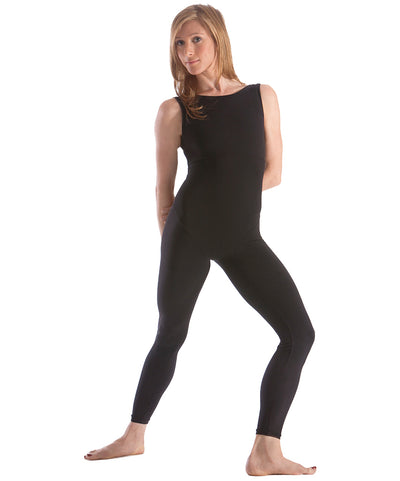 Boatneck Unitard by SteelCore, moves easily from dance to yoga, to pilates, spin, and aerial, all the while comfortable with elastic-free styling and unique hip seaming that guarantees your best look at all times.  Higher front neckline and back scoop promise coverage and movement freedom when you need them.  Performance fabrics wash and dry, wicking moisture to keep you cool and comfortable.  Made in USA.
