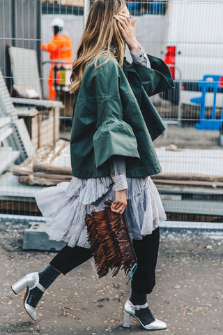 Glitter Socks Cropped Trousers Street Style