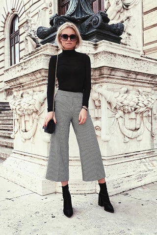 Sock Boots with Cropped Trousers Street Style