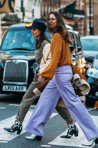 How to wear cropped trousers or culottes in cold weather