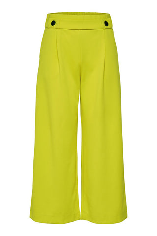 JDY Citrus Yellow Wide Leg Cropped Trousers