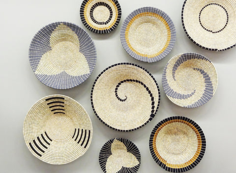 The Roaming Chair African Woven Plates