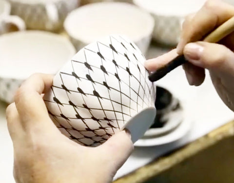 Russian tea cup making