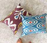 Authentic ikat silk cushions