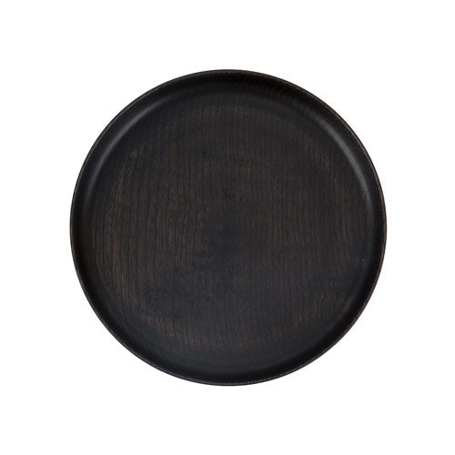 Japanese wooden plate black