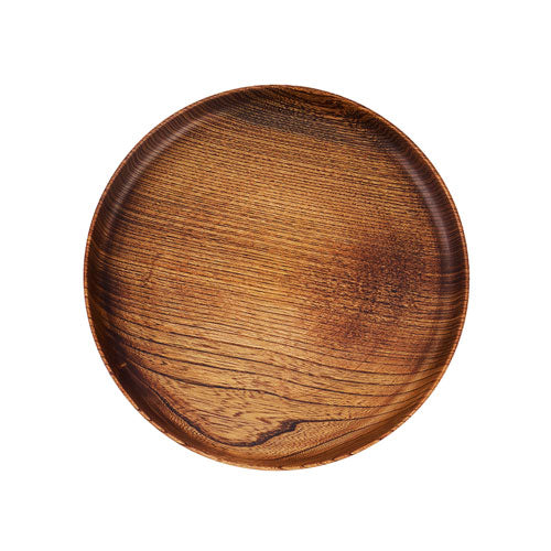 Japanese wooden plate brown