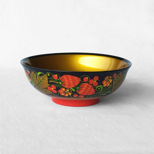 The Roaming Chair bowl Lacquered Bowl 14x5cm - Hand Painted Khokhloma