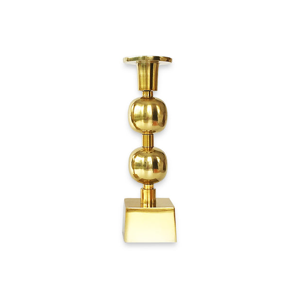 The Roaming Chair Candlestick holder Brass Candlestick Holder 'Globe'