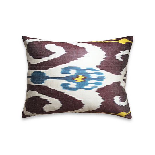 The Roaming Chair cushion Authentic Ikat Cushion Silk 40x50cm - Chiraz