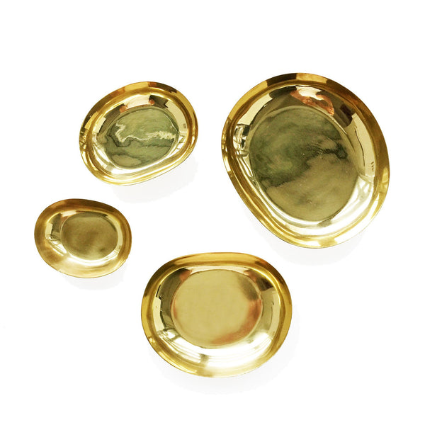 The Roaming Chair Dish Brass Mini Dishes - Set of 4