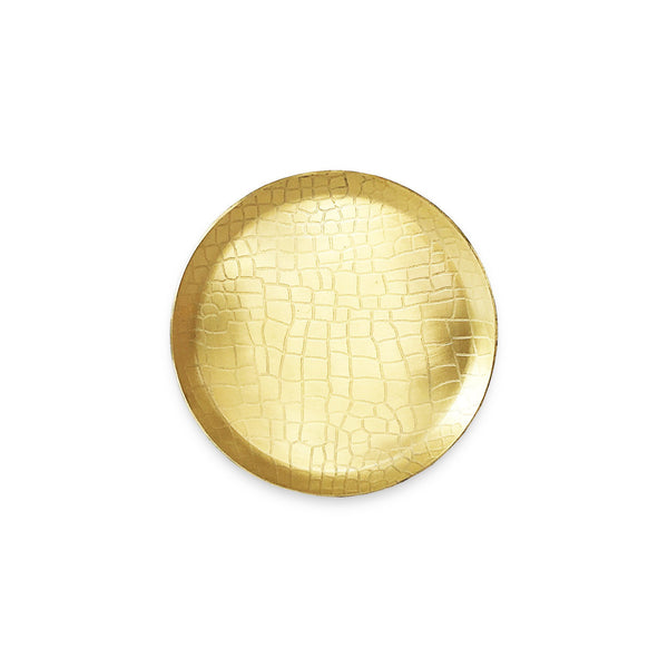 The Roaming Chair Plate Brass Round Plate 'Crocodile' 13cm