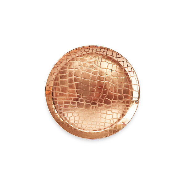 The Roaming Chair Plate Copper Round Plate 'Crocodile' 13cm