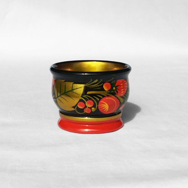 The Roaming Chair Salt cellar Lacquerware Salt Cellar 6 x 4.5 cm - Hand Painted Khokhloma