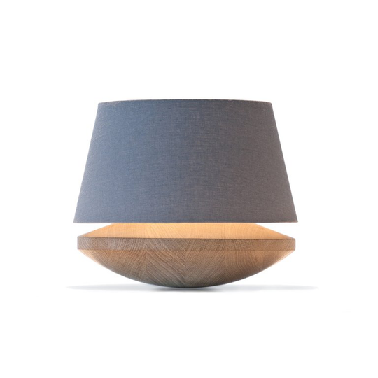 Bedside Lamp Lamp With Dimmer Oak & Grey Linen