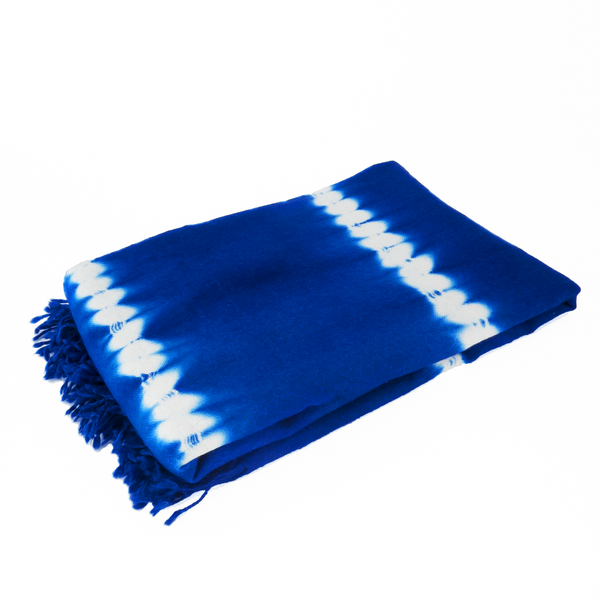 The Roaming Chair Throw Shibori Tie Dye Throw 140 x 200 cm 100% Baby Alpaca