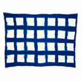 The Roaming Chair Throw Shibori Tie Dye Throw 145 x 200 cm 100% Wool & Cashmere - Squares