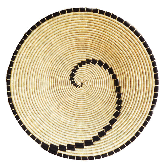 The Roaming Chair wall plate African Woven Wall Basket Konokono Black